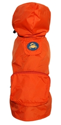 Orange Crab Pocket Fold Up Raincoat