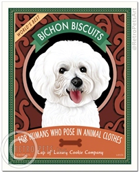 Bichon Biscuits (Bichon Frise) For Humans Who Pose In Animal Clothes