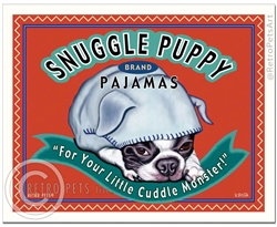 Snuggle Puppy Brand Pajamas (Boston Terrier) For Your Little Cuddle Monster