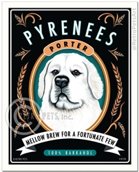 Pyrenees Porter (Great White Pyrenees) Mellow Brew For a Fortunate Few