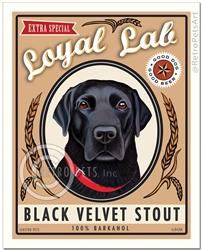 Extra Special Loyal Lab (Labrador Retriever) Black Velvet Stout