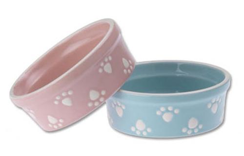 Pastel Paws Stoneware Dog Bowls