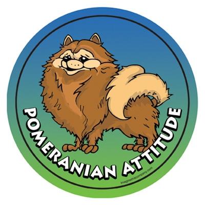 Pomeranian - Attitude Magnets Collection