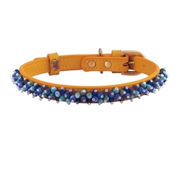 Mini Beads Collar - Yellow/Turquoise