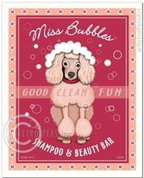 Miss Bubbles (Poodle) Shampoo and Beauty Bar