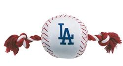 Los Angeles Dodgers Baseball Toy - Nylon w/rope
