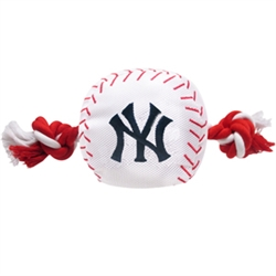 New York Yankees Baseball Toy - Nylon w/rope