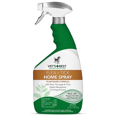 Vets Best Dog  Flea + Tick Home Spray (32 oz)