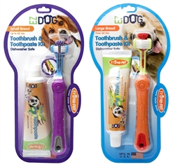 Triple Pet EZDOG Dental Kit - Toothbrush and Toothpaste