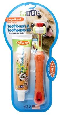 Triple Pet EZDOG Dental Kit - Toothbrush and Toothpaste