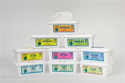 earthbath® Grooming Wipes Mixed Case of 12, 100 ct ea re-sealable container