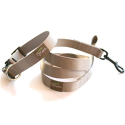 Slate Webbing Collars & Leashes