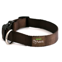 Choco Brown Webbing Collars, Leashes, & Couplers