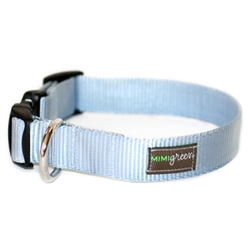 Dolphin Blue Webbing Collars & Leashes