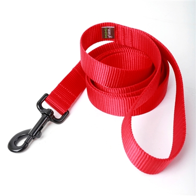 Fire Hydrant Red Webbing Collars & Leashes