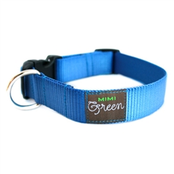 Sky Blue Webbing Collars & Leashes