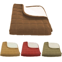 Box Quilt Microfiber and Sherpa Throw - DISCONTINUED