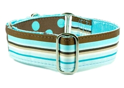 "1.5"" Preppy Mocha Satin Lined Collars"