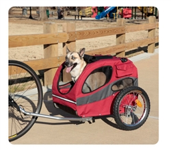 Track'r Houndabout II Medium Bicycle Trailer - Aluminum - out until 10/23