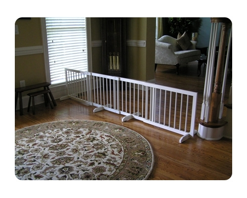 Step Over Gate Extension - White