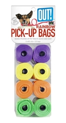 OUT! Rainbow Waste Pick-Up Bags 120 ct.