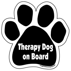 Therapy Dog on Board Paw Magnets
