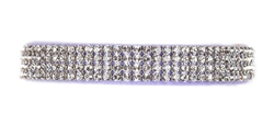 French Lavender Giltmore Crystal 4-Row Collars