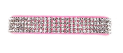 Perfect Pink Giltmore Crystal 4-Row Collars