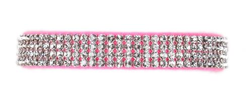 Perfect Pink 4 Row Giltmore Collar