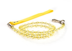 Fabuleash Beaded Dog Leash - Citrine Yellow