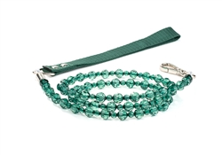 Fabuleash Beaded Dog Leash - Emerald Green