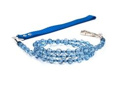 Fabuleash Beaded Dog Leash - Montana Blue