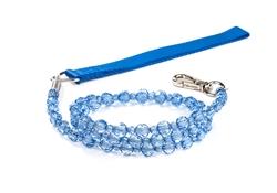 Fabuleash Beaded Dog Leash - Sapphire Blue