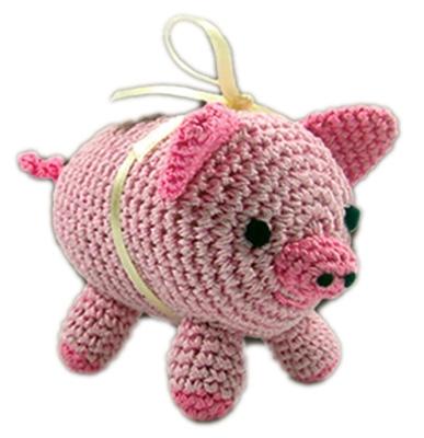 Piggy Boo - Knit Knacks - Organic Cotton Crocheted Toys