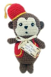 Fez Monkey - Knit Knacks - Organic Cotton Crocheted Toys