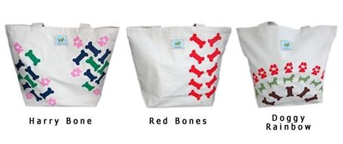 Shopping Tote - Red Bones
