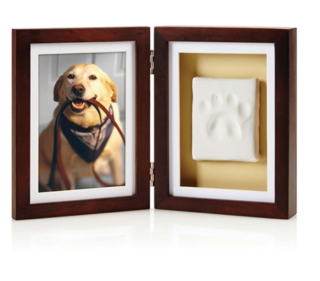 Espresso Pawprints™ Picture Frame and Pawprint Imprint Kit