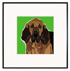 Framed Print: Bloodhound