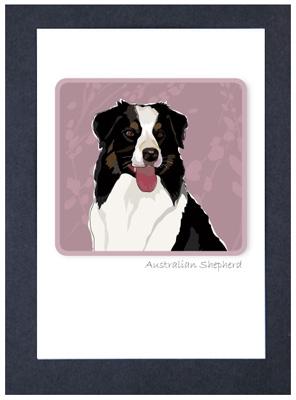Aussy Shepherd #2 - Grrreen Boxed Note Cards