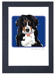 Bernese Mt. Dog #2 - Grrreen Boxed Note Cards