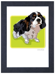 Cavalier, Tri #2 - Grrreen Boxed Note Cards