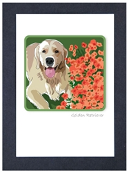 Golden, W/ Flowers - Grrreen Boxed Note Cards
