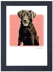 Lab, Choco #2 - Grrreen Boxed Note Cards