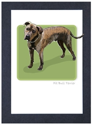 Pit Bull, Brindle - Grrreen Boxed Note Cards