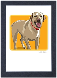 Lab Running, Yellow #4 - Grrreen Boxed Note Cards