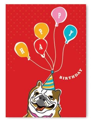 Birthday: Bulldog Ballons