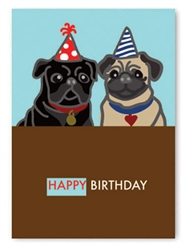 Birthday: Two Pugs