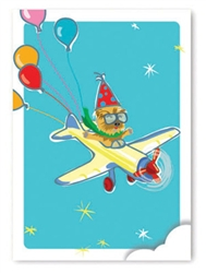 Birthday: Yorkie Flying