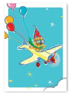 Birthday: Yorkie Flying