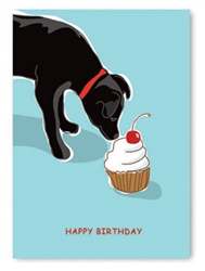 Birthday: Black Lab & Cupcake